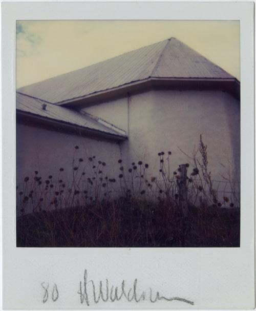 Harold Joe Waldrum - polaroid sx-70 monoprint - Arroyo Hondo NM