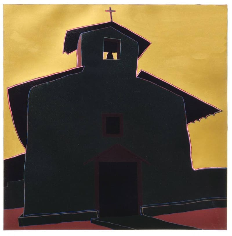 "Ocaso del sol en estío, (image) 24x24"" linocut on paper, 1986-87 - by Harold Joe Waldrum"