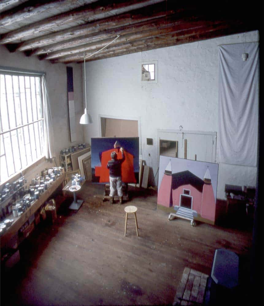 Photo by Steve Northup - Harold Joe Waldrum painting in the Joseph Sharp Studio, Taos New Mexico