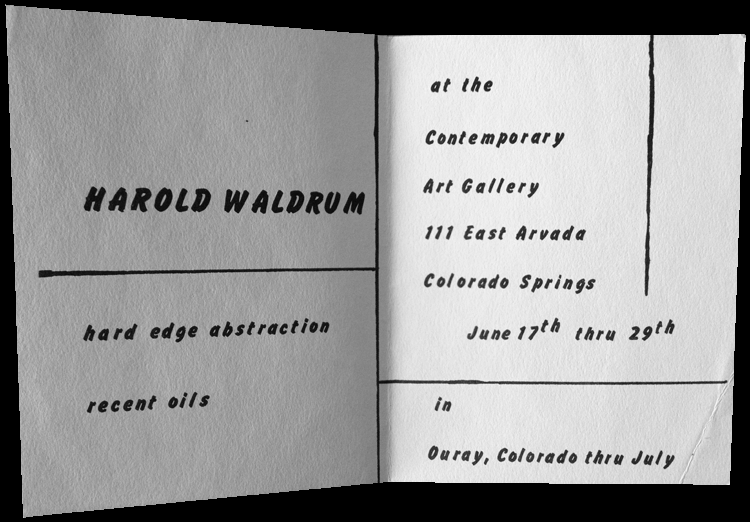 Harold Waldrum  - Hard Edge Abstractions