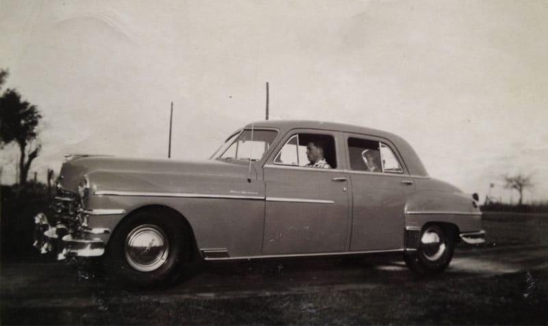 Harold Joe Driving, Linda in the Back Seat