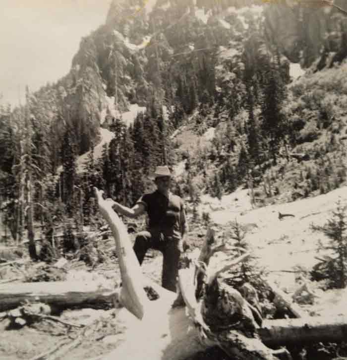 Harold Joe Waldrum in the San Juan Mountains of Colorado in the early 1950s
