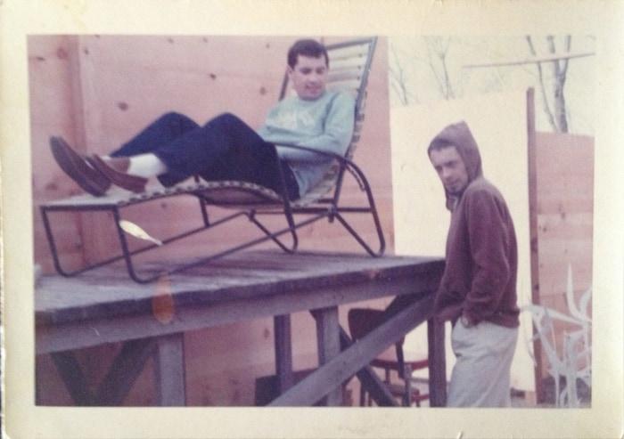 Charles Lum and Harold Joe in the Courtyard