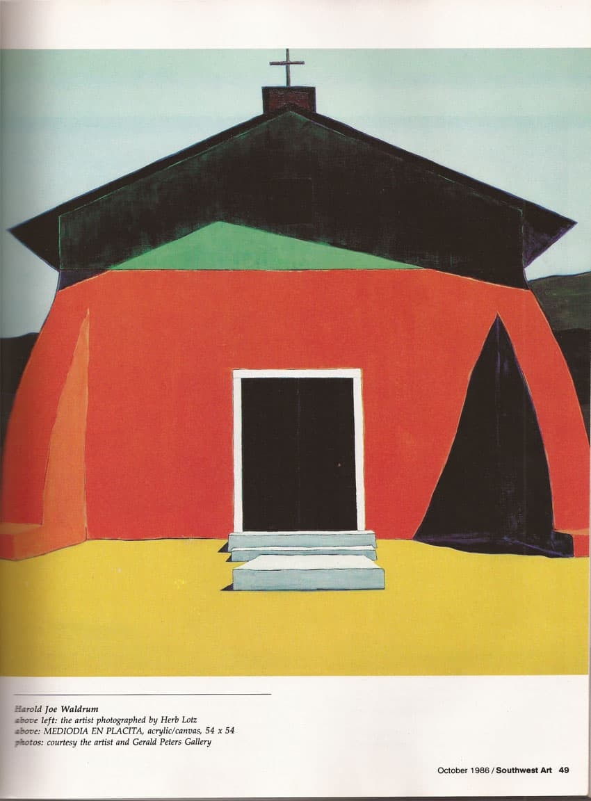 Southwest Art - 1985 article on Harold Joe Waldrum, page 2