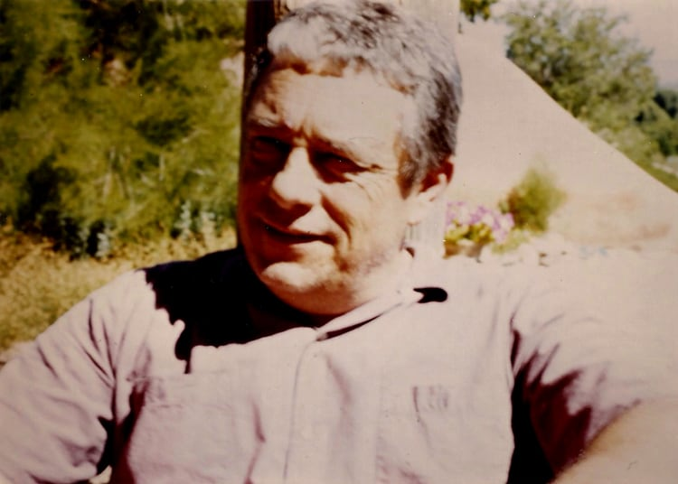 Harold Joe Waldrum in Llano Quemado, 1985
