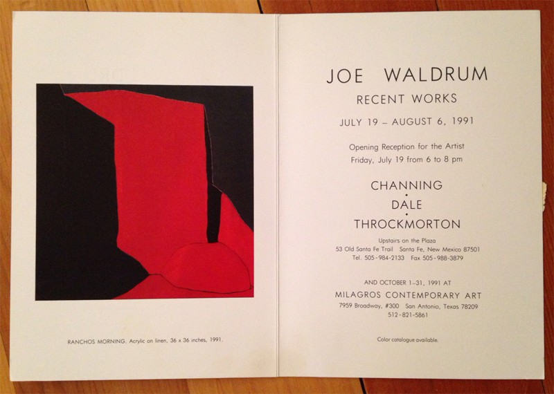 Harold Joe Waldrum at Channing Dale Throckmorton, Santa Fe, 1991