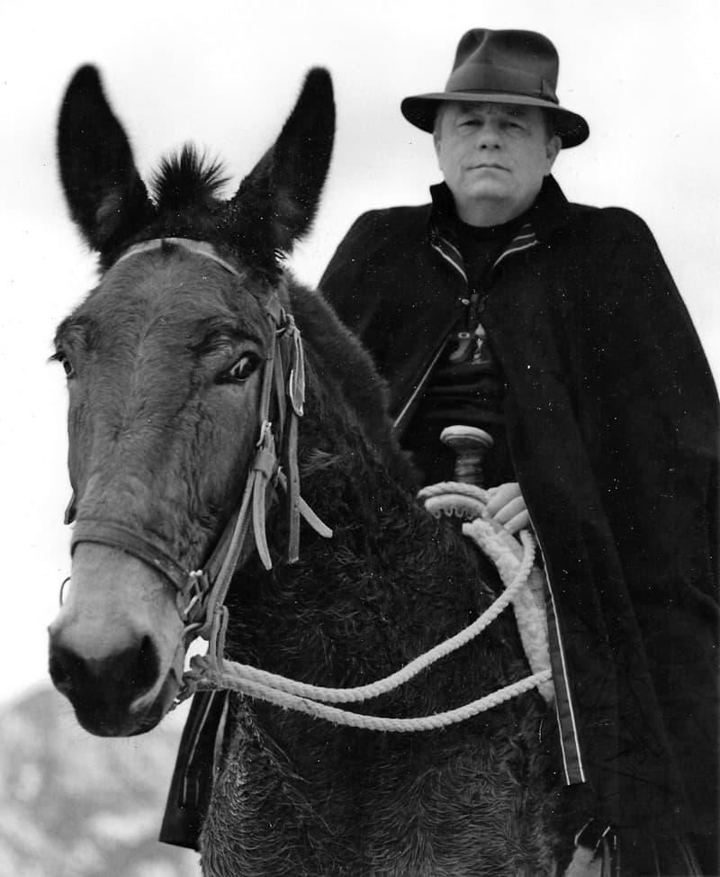 Harold Joe Waldrum on Moon the mule