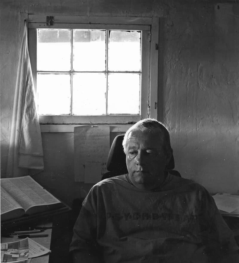 Harold Joe Waldrum at his ranch on Ladron Mountain