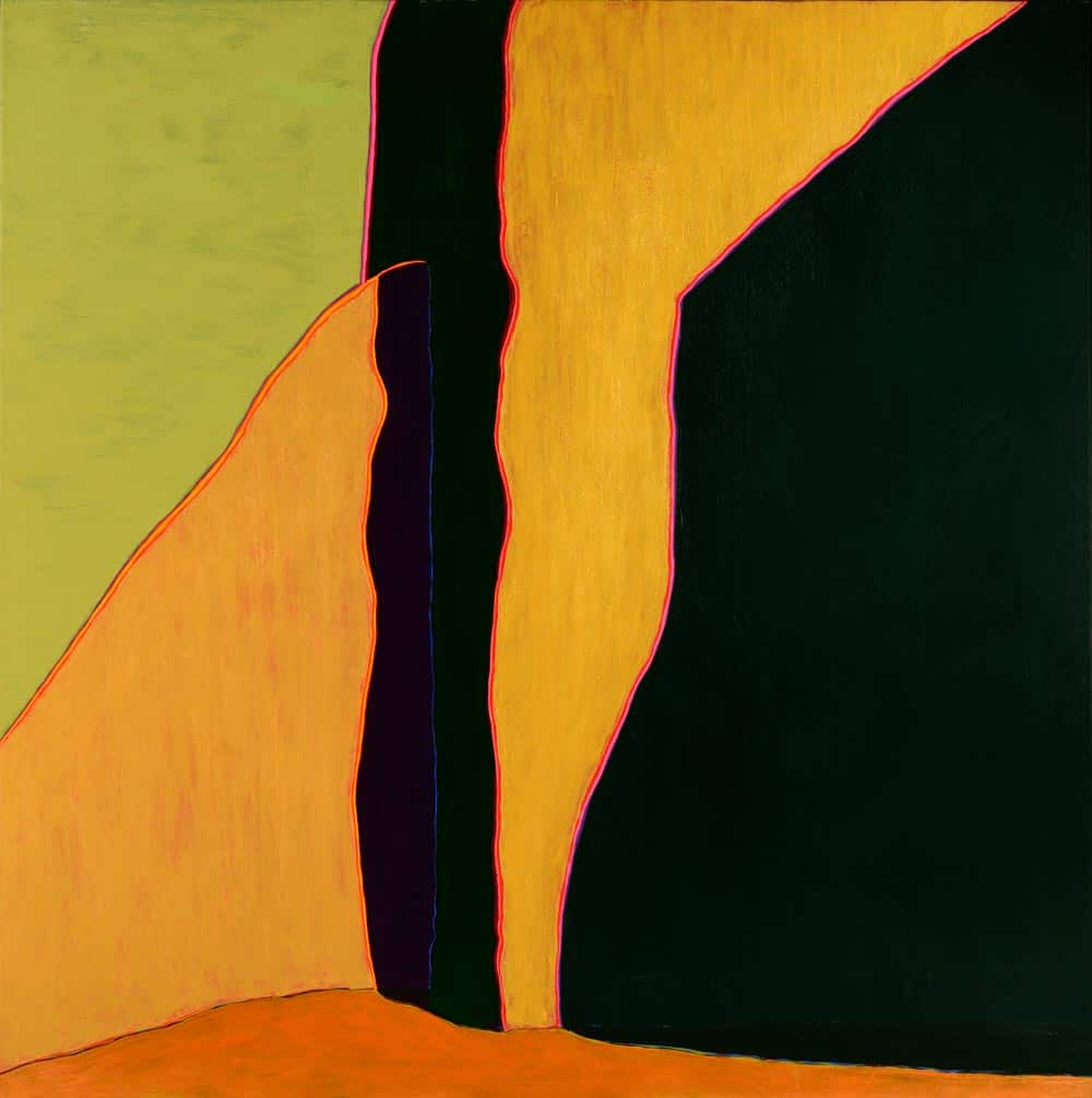"El resplandor de la luz del sol del sur, 54x54"" acrylic on linen, 2003 - from the church painting series by Harold Joe Waldrum"
