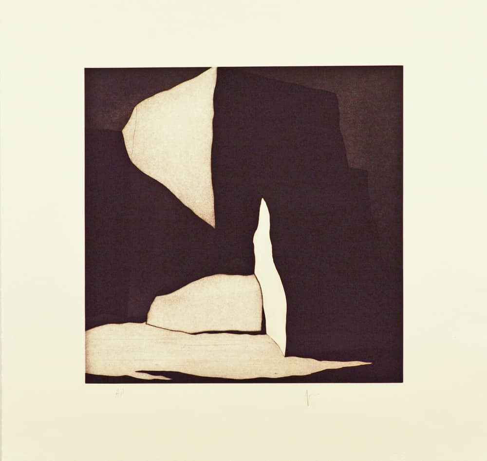 "La luz, (image) 15x15"" aquatint etching, ca. 1998 - aquatint etching by Harold Joe Waldrum"