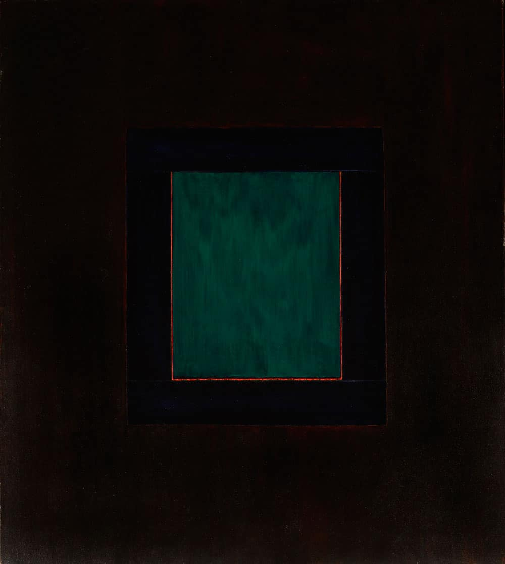 "Una ventana de Taos, 56x50"" acrylic on canvas, 1979 - window series, Harold Joe Waldrum"
