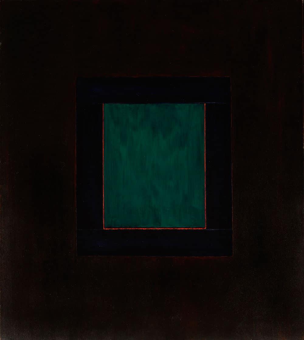 "Una Ventana de Taos - 56x50"" acrylic on canvas, 1979. Window series, Harold Joe Waldrum"