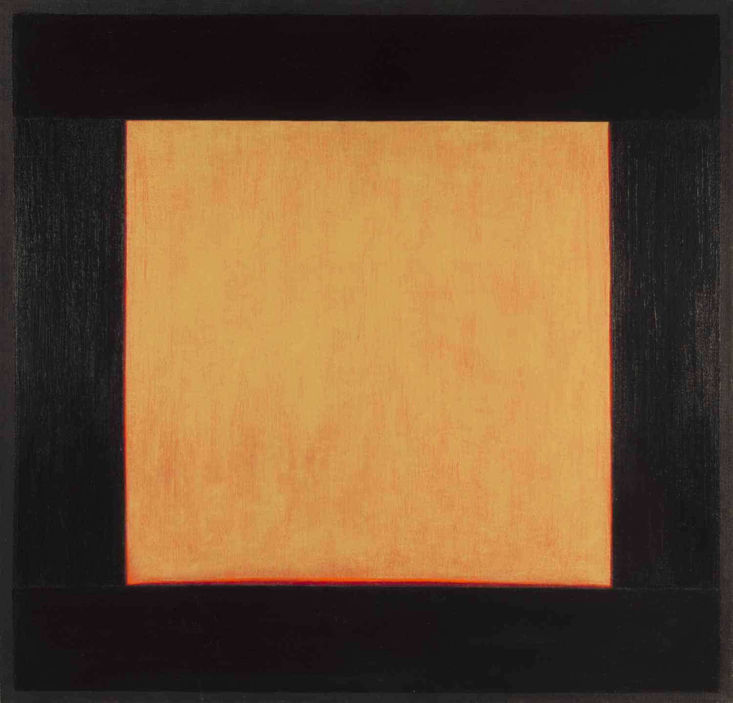 "Estio, 48x50"" acrylic on linen, 1979 - window painting by Harold Joe Waldrum"