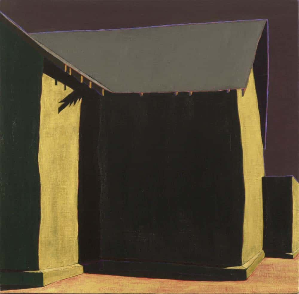 acrylic on linen church painting by Harold Joe Waldrum