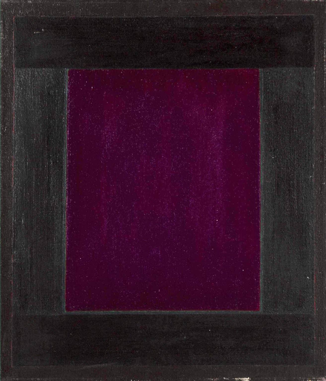 Marlou - 1979 window painting by Harold Joe Waldrum - Ventanas series