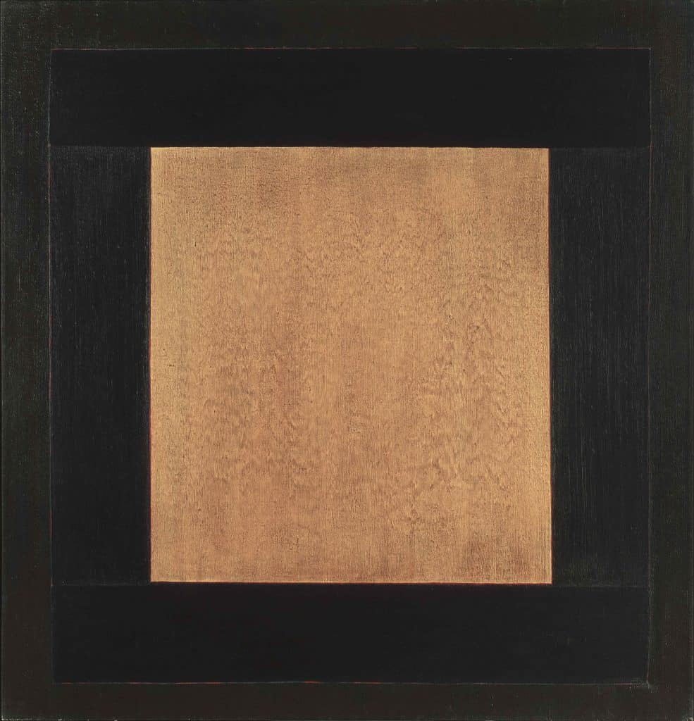 "Para Santuario, 52x50"" acrylic on canvas, 1979"