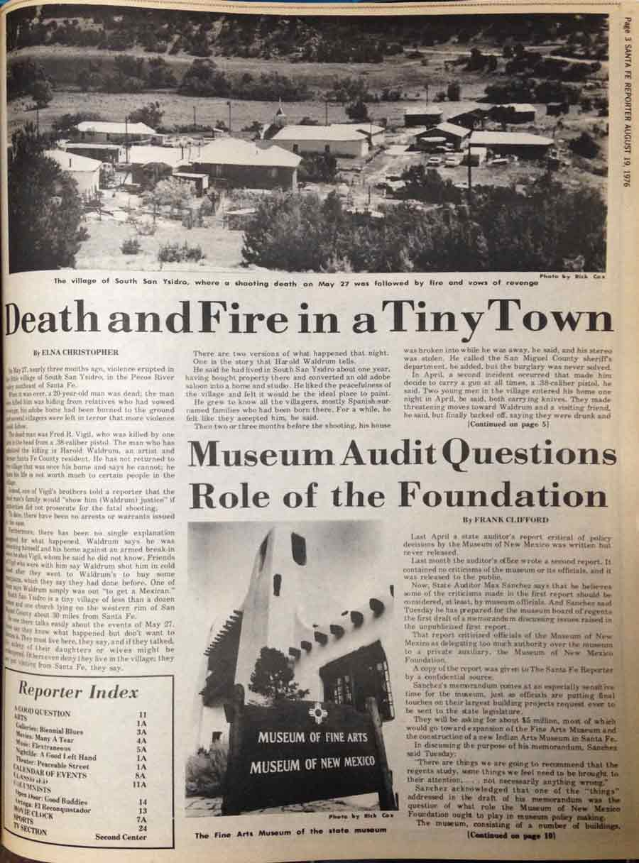 death and fire in a tiny town