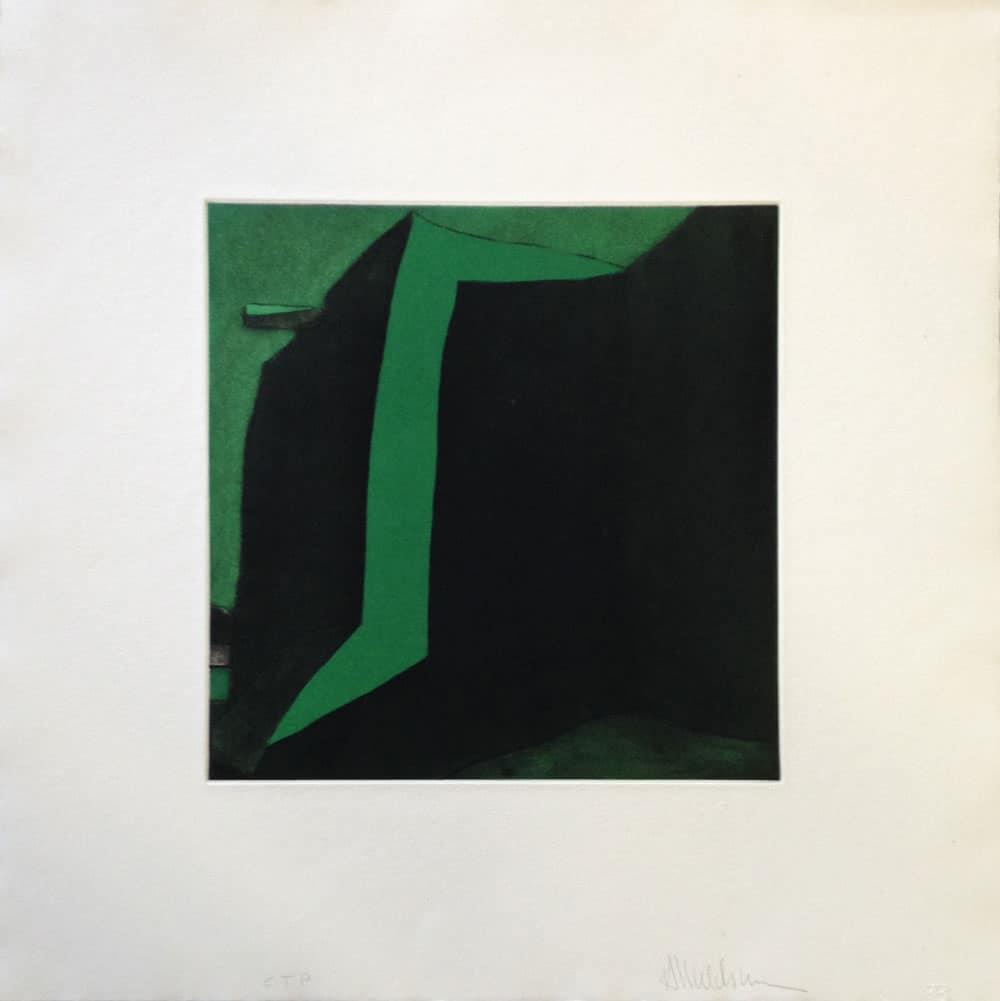 Color Trial Print of the Las Trampas etching by Harold Joe Waldrum