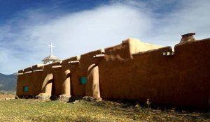 buttresses - Morada de Don Fernando in Taos New Mexico