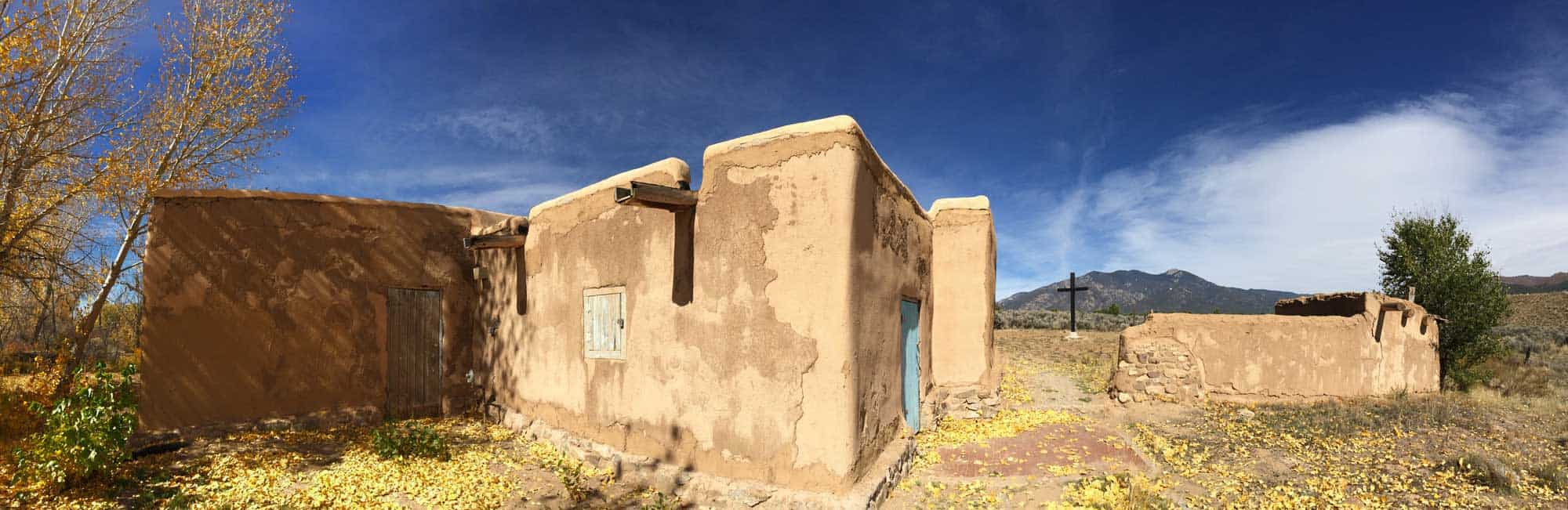 the back of the Morada in Taos New Mexico