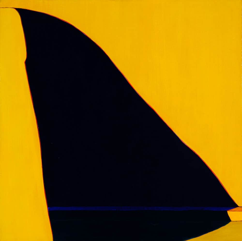"Adumbración, 34 x 34"" acrylic on canvas, 1982, Harold Joe Waldrum"