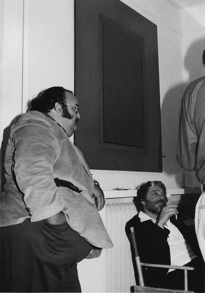 artist Harold Joe Waldrum - window paintings at Blair Galleries in Santa Fe 1979