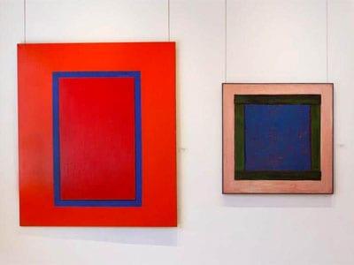 Harold Joe Waldrum windows at Gerald Peters Gallery 2016
