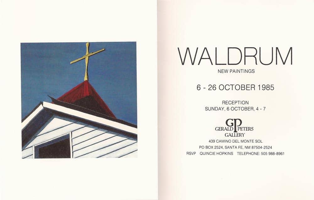 Harold Joe Waldrum at Gerald Peters Gallery, October 1985