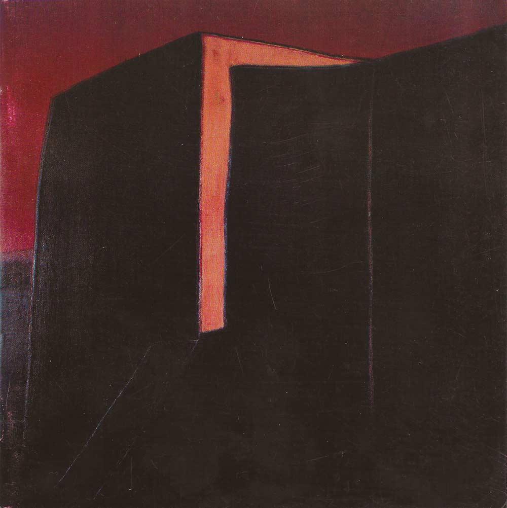"""Harold Joe Waldrum, """"Las Trampas,"""" 26x26"""" acrylic on canvas, 1982"""