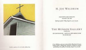 H. Joe Waldrum at Munson Gallery 1993