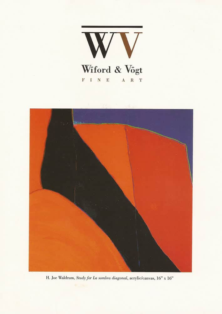 Harold Joe Waldrum - 2003 show at Wiford & Vogt