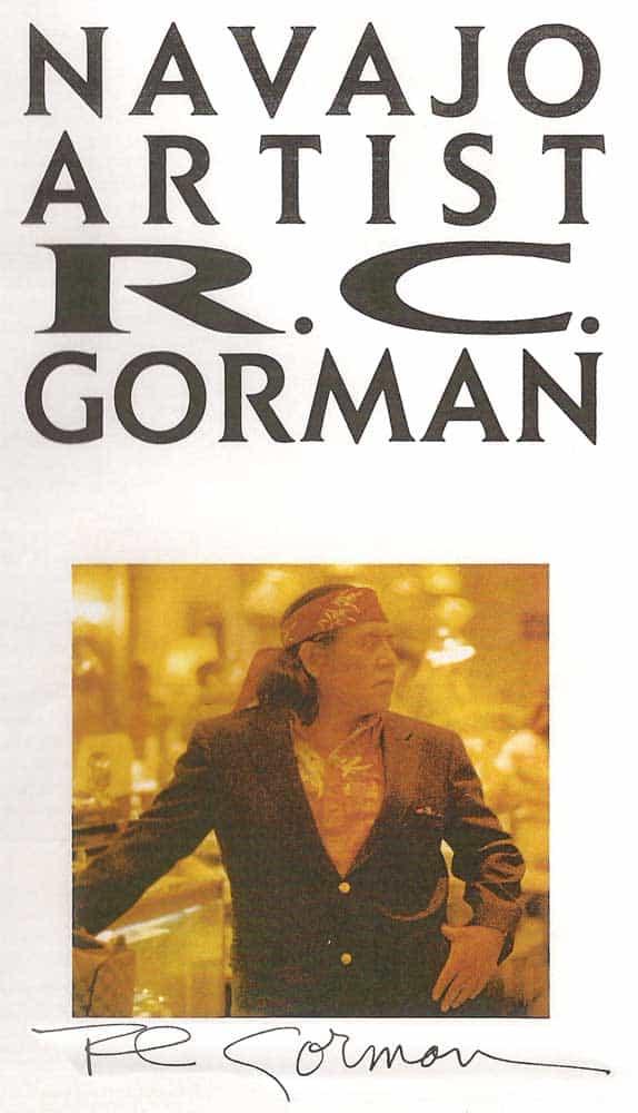 Navajo Artist RC Gorman - copyright 1987, Heese Waldrum Studios