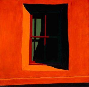 Window at Chacón III, acrylic on linen, Harold Joe