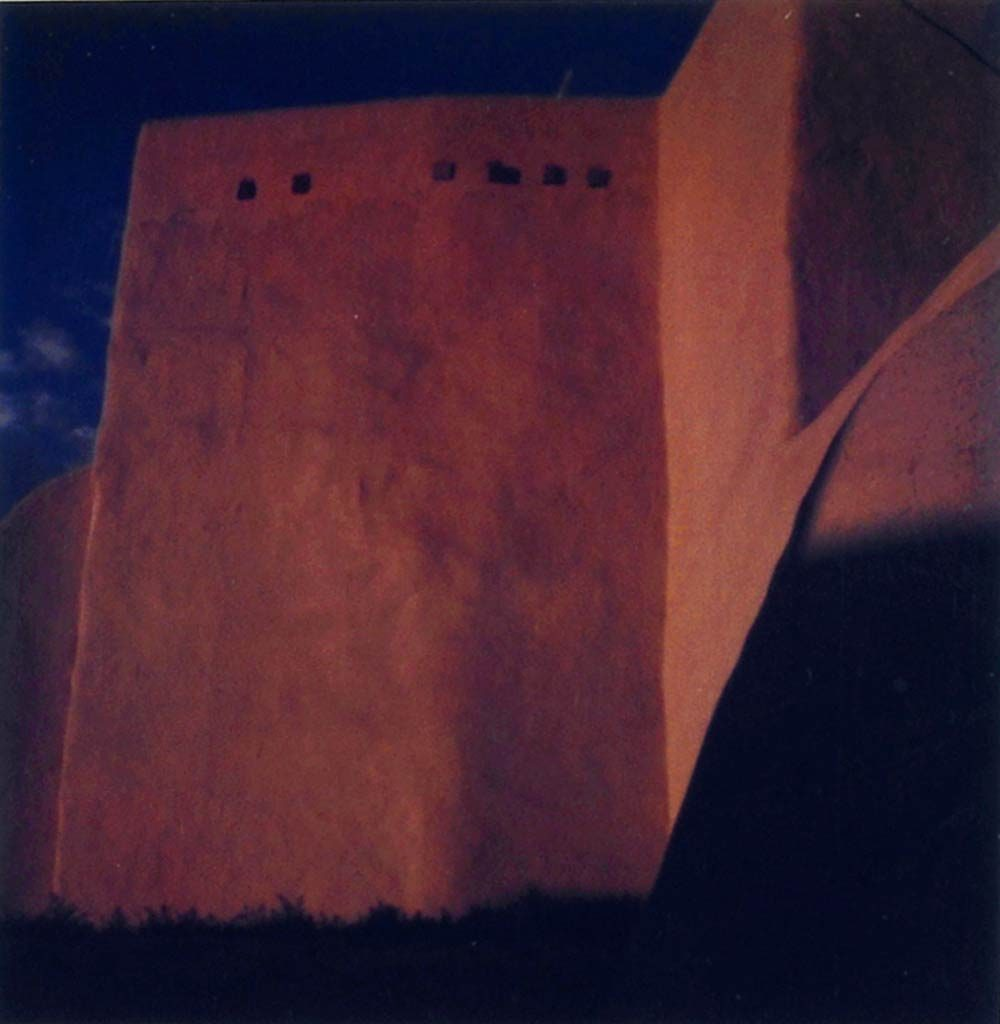 Ranchos de Taos church, polaroid by Harold Joe Waldrum, 1980s