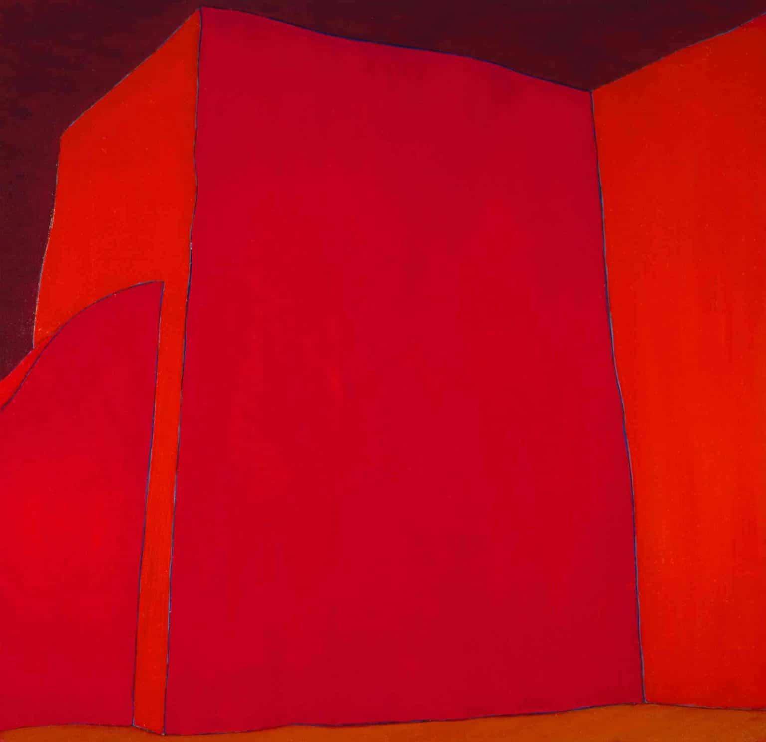 Harold Joe Waldrum church painting - Ranchos - 48 x 46.25 acrylic on canvas